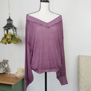 We The Free Off Shoulder Long Sleeve Top Size S